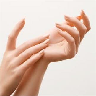 peeling area hands